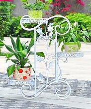 ZHANWEI Pflanzentreppe Eisen Blumen Racks
