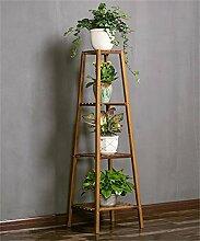 ZHANWEI Pflanzentreppe Kreative hölzerne Blumentopf Regal Blumentopf Halter Pflanze Stand Wohnzimmer Interieur Blume Rack Blumenständer ( größe : 37*37*120cm )