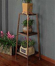 ZHANWEI Pflanzentreppe Massivholz Blumentopf Regal Pflanze Stand Balkon Wohnzimmer Ecke Holz Blume Rack Blumenständer ( Farbe : B , größe : 34*34*97cm )