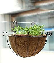 ZHANWEI Pflanzentreppe Pflanze Stand 3 Stück, Geländer Blume Rack Hanging Flower Töpfe Wand hängen Bonsai Frame Blumenständer ( Farbe : B )