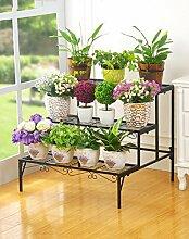 ZHANWEI Pflanzentreppe Praktischer Eisen Blumenrahmen Outdoor Multi - Layer Leiter Blumenbeet Rahmen Wohnzimmer Balkon Blumen Rack Blumenständer ( Farbe : A , größe : 70*60cm )