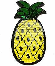 zhanyue Verzierung Kid bestickt Patch Nähen auf/Eisen auf Patch Applikation Kleidung Kleid Pflanze Hat Jeans nähen Blumen Aufnäher DIY Zubehör Ananas