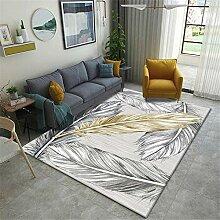 ZHAO Teppich Pastellcremefarbenen Teppich mit
