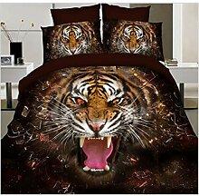ZHAO ZHANQIANG 3D Bettwäsche-Sets, Tiger