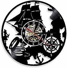 ZhaoCJB Navigationsthema Schallplatte Wanduhr