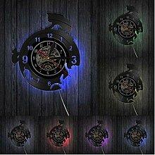 ZhaoCJB Wanduhr Haustier Schallplatte Wandlampe