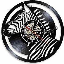 ZhaoCJB Zebrakopf Led Wandlampe Wanduhr Safari