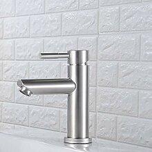 ZHAOSHOP Edelstahl Handwaschbecken Wasserhahn