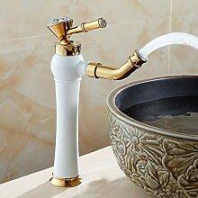 ZHAOSHOP Waschbecken Wasserhahn moderne goldene