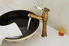 ZHAOSHOP Wasserhahn alle Kupfer antiken Becken