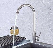 ZHAOSHOP Wasserhahn Edelstahl Küchenarmatur heiß