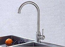 ZHAOSHOP Wasserhahn Edelstahl Küchenarmatur