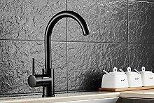 ZHAOSHOP Wasserhahn schwarz Küchenarmatur
