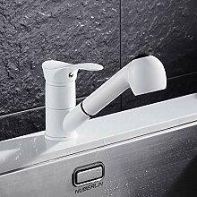 ZHAOSHOP Wasserhahn weiß Küchenarmatur heiße