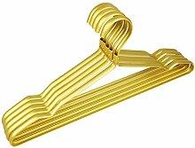 ZHAS 10er-Pack - Erwachsene Kleiderbügel hängend Kleiderbügel Aluminium Kleiderständer hängenden Bügel nahtlos Rutschfeste, 42 * 20,5 cm, gelb für Baby & Kleinkind Erwachsene Kleidung
