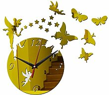 ZHAS Kreative Schmetterling DIY Kunst wanduhr mit