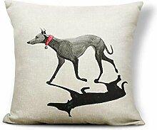 ZHAS Lianincess Kissenbezüge Greyhound Kissen I