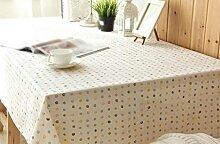 ZHAS Punkte Flachs Tischdecke Abdeckung Tuch Tischdecke Tischdecke Dachgarten wählen (Größe: 140 * 230 cm)