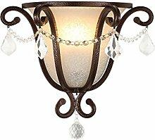 ZHAS Retro Wohnzimmer schmiedeeiserne Lampe gang Treppe Nachttischlampe