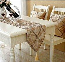ZHCJH Französische Mode Tischläufer Hochwertiger