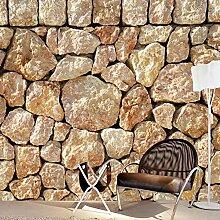 Zhcmy 3D-Wandtapete mit Steinprägung für