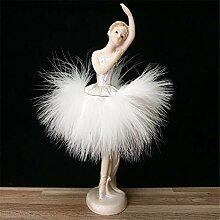 Zhcmy Harz Engel Schmuck Ballett Mädchen