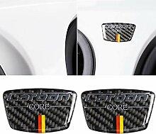 ZHCOM Carbon Auto Auto Aufkleber mit Emblem Spalte