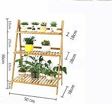 ZHDC® Blumenzwiebeln, Bambus Massivholz Balkon