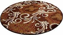 ZHDC® Rundes Wohnzimmer Schlafzimmer Bett Computer Stuhl Korb Yoga Fitness Teppich Küche Eingangshalle Balkon Teppich 100x100cm, 160x160cm Weich und bequem ( Farbe : #10 , größe : 120*120cm )