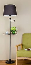 ZHDC® Stehlampe Wohnzimmer Regal Tablett
