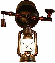 ZHDC® Wandlampe, antike Nostalgie Rohr