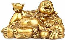 ZHDECOR Lachende Buddha-Statue für Glück,