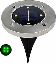 Zhen+ LED Solar Leuchte Gartenleuchten Bodenlampe