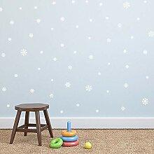 ZhenFa Set Schneeflocke Weihnachten Wand Aufkleber