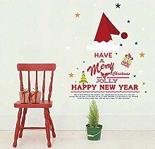 ZhenFa Weihnachten Hut Weihnachten Wandsticker