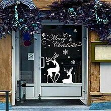 ZhenFa Weißer Elch Schneeflocke Weihnachten