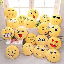 ZHENWOFC Niedliches Emoji-Ausdruck-Throw-Kissen