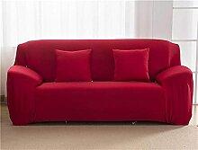 ZHENWULU Vollfarbige elastische Sofa-Cover-Spandex