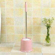 ZHFC bad wc bürste wc waschen die klobürste lange mit pinsel dekontamination base sauber weichen pinsel bürstenset,runde, rosa