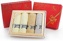 ZHFC bambus - faser handtuch geschenkset 4 bar