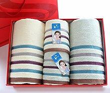 ZHFC baumwolle traurig handtuch handtuch adult liebhaber hochzeit rückkehr festival geschenk sechs stück geschenk - box,Beige - ofen Teile