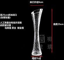 ZHFC-ein blumengesteck lily, transparente glas -