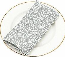 ZHFC europäischen stil tuch hotel restaurant serviette - stoff - matte handtuch glas - stoff - dekoration mat 46 * 46cm 1 block.,silber - grauen,46 '46cm