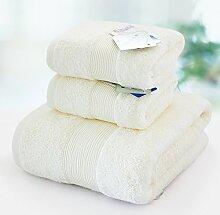 ZHFC lange samt baumwolle 113 handtuch handtuch anzug reiner baumwolle adult mann haushalt handtuch wasser hotel handtuch erhöhte 3 - suite,drei gruppen von beige