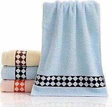 ZHFC reiner baumwolle handtuch um verdickung baumwolle gesicht handtuch geschenk 33 * 73cm 1,kleine quadratische blaue