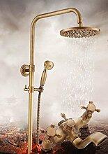 ZHFCeuropäische antike duschen duschen duschen voller kupfer - dusche