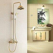 ZHFCeuropäische golden shower set volle aufhebung dusche hat kupfer