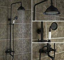 ZHFCschwarze bronze dusche hat volle kupfer antik dusche heiß und kalt duschen