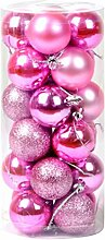 Zhhlaixing 24x Shatterproof Balls Onaments Xmas Tree Party Decorations Christmas Tree Baubles 6cm/2.36inch