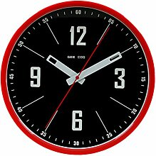 Zhhlaixing 4 Colors Retro Home Decor Mute Metal Wall Clock Modern Art Decoration